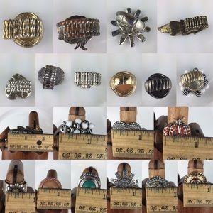 Jewelry - 10 Pretty Rhinestones Stretch Statement Rings Lot